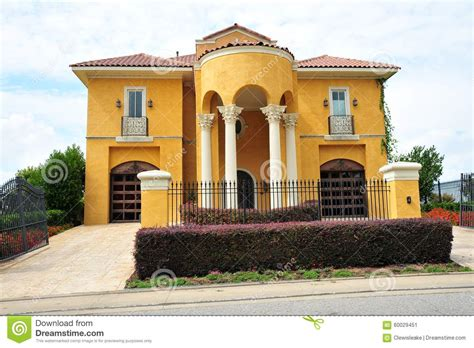 Shed Style Homes beautiful mexican ranch style villa mansion stock image