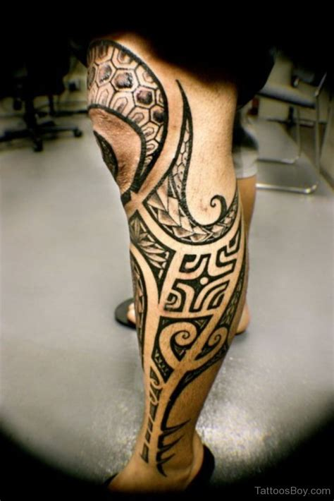leg tribal tattoos leg tattoos designs pictures page 3