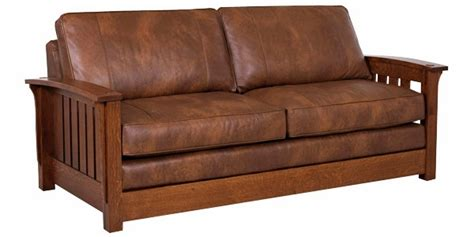 mission style leather sofa mission style leather furniture
