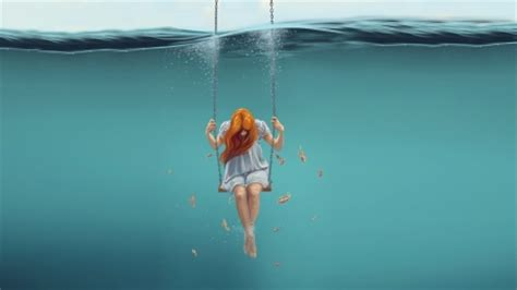 swinging fantasy swinging underwater fantasy abstract background