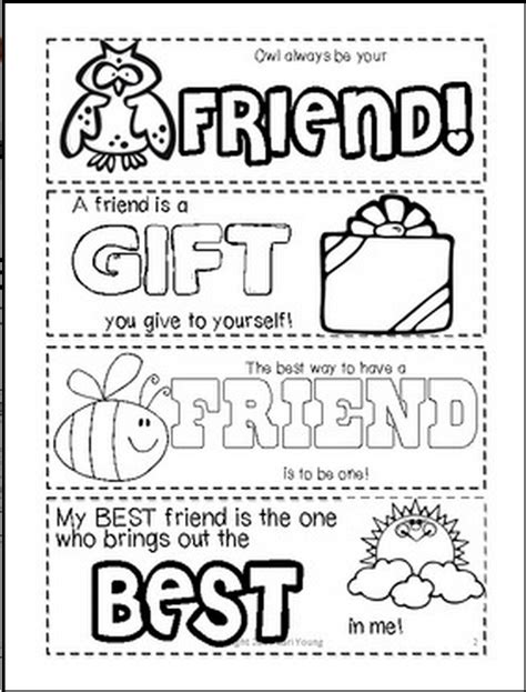 friendship card template free printable classroom freebies friendship printable bookmarks for