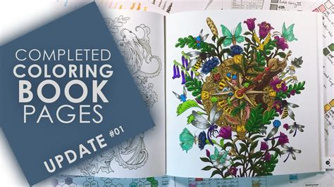 completed adult coloring book pages update  youtube