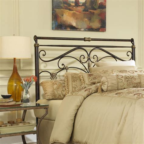 Metal Headboard King Home Decorators Collection Marquette Antique Brass Sleigh Bed 9510000230 The Home Depot