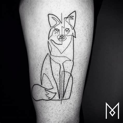 german minimalist tattoo artist takes line art to next level by making single