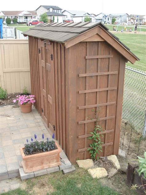 Thin Garden Sheds Thin Wall Garden Shed Rustic By Kiefer Homerefurbers