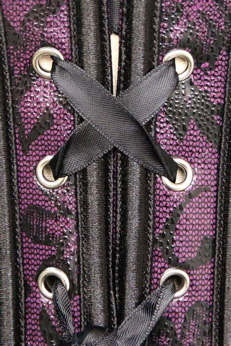 1273 Lvlb Minidress Purple purple leather underbust corset n1273