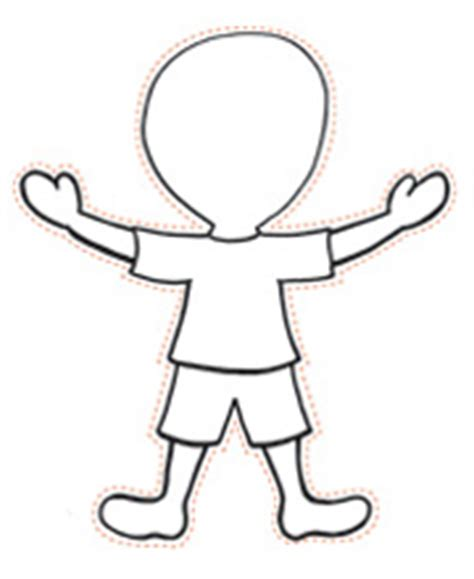 Body Template For Kids Clipart Best Boy And Template Free