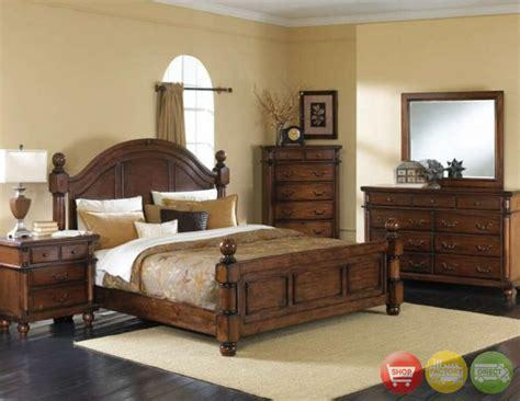bedrooms furniture sets augusta 5 traditional walnut bedroom furniture set w 2 stands ebay