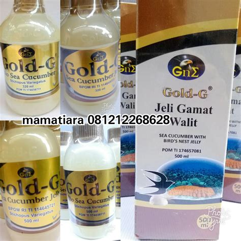 Walit Jelly Gamat Gold G 500ml jelly gamat gold g 320ml dan 500ml jelly gamat walit