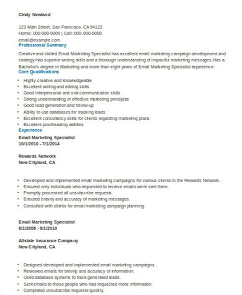 sle marketing skills resume 8 exles in word pdf