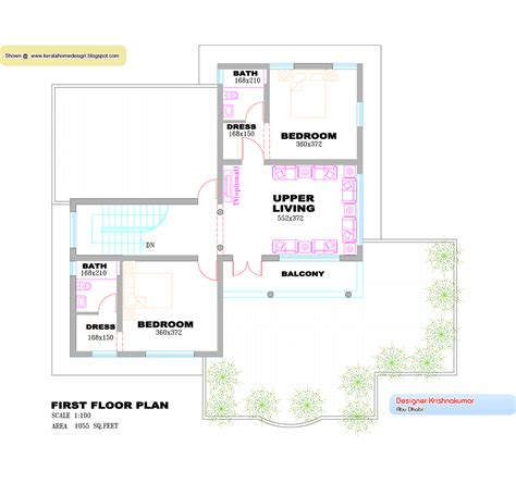 floor plan and elevation of 2203 square feet 205 square kerala villa design plan and elevation 2760 sq feet