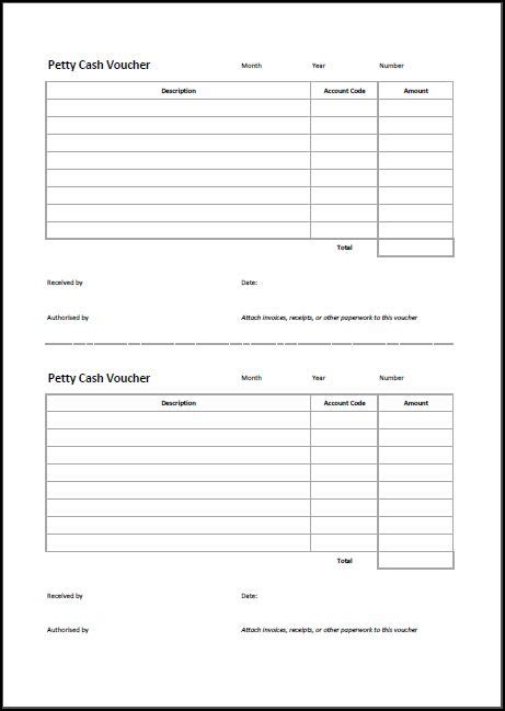 petty receipt voucher template best photos of petty voucher template excel editable