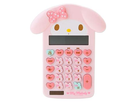 my melody shaped calculator 12 digit solar powered sanrio