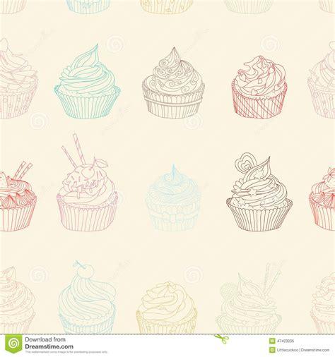 pattern food texture cupcake pattern stock vector image 47423235