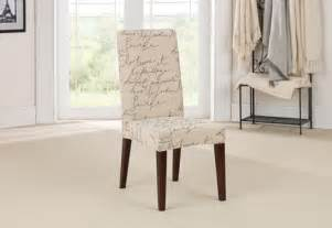 Dining Chair Slip Cover Sure Fit Stretch Pen Pal By Waverly Dining Chair Slipcover