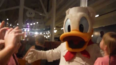 Mickey S Backyard Bbq Vs Chef Mickey Messing With Donald Duck At Chef Mickey S At Walt Disney