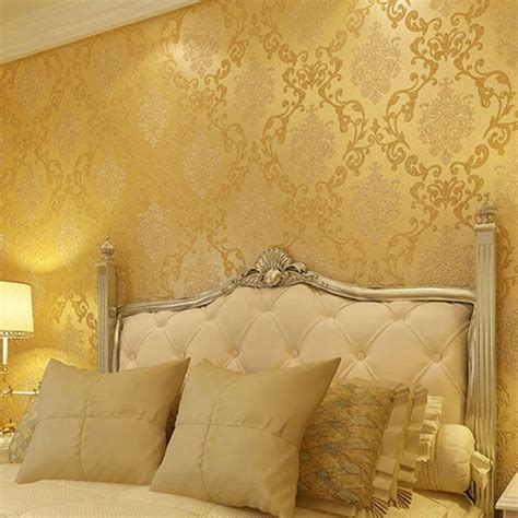 Wallpaper Dinding Glossy Modern European Style buy wholesale beige living from china beige living wholesalers aliexpress