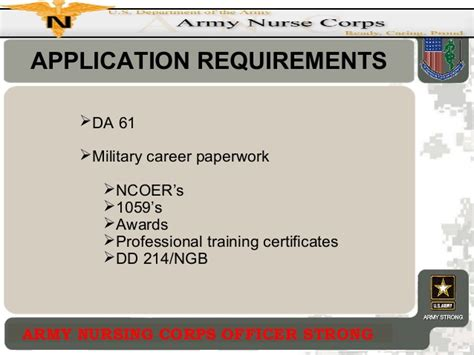 Corps Application Requirements Amedd Enlisted Commissioning Program