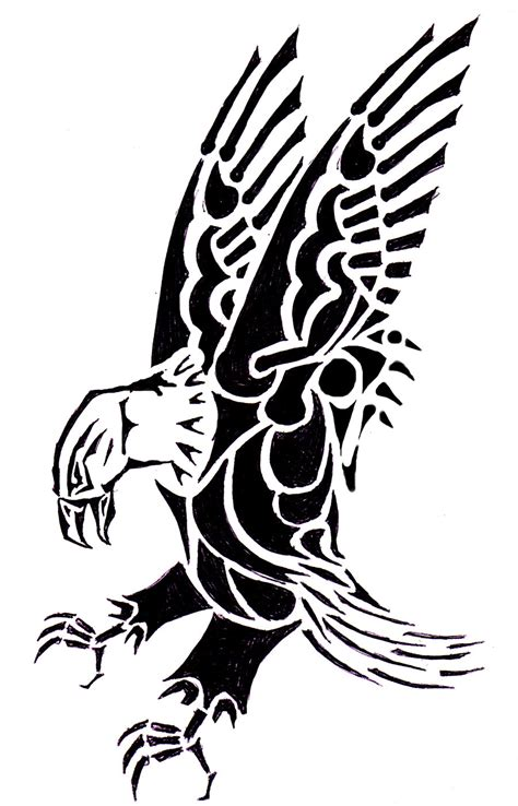 mexican eagle tribal tattoo cliparts co