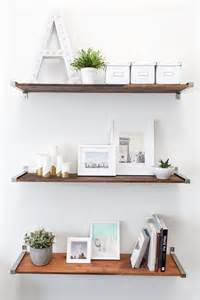 wood shelves ikea diy ikea hack distressed wooden shelves to elevate your home