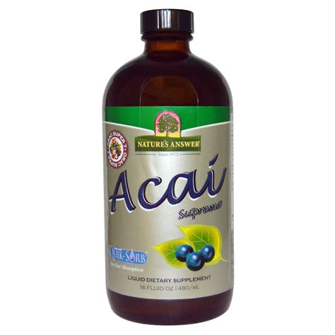 acai berry supreme nature s answer acai supreme 16 fl oz 480 ml na bazarek pl