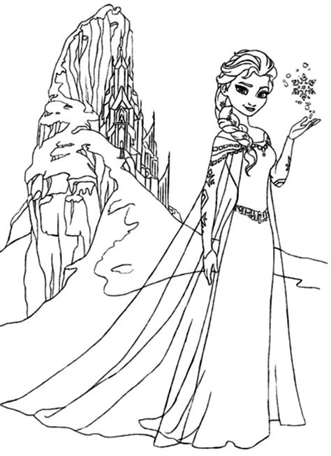 frozen coloring pages elsa ice castle the best place for coloring page at coloringsky part 25