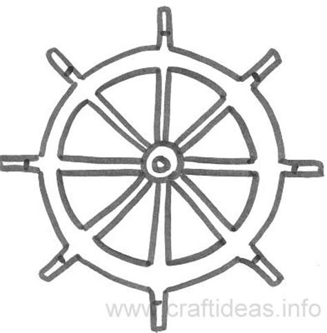 ship wheel template free summer and maritime craft patterns ship s wheel