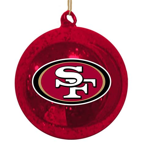san francisco 49ers christmas tree ornaments christmas