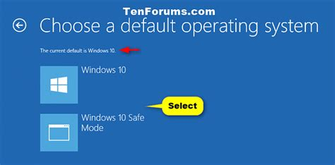 windows 10 operating tutorial operating system to run at startup choose default in