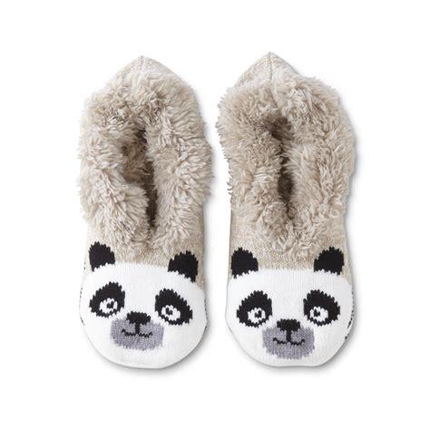 panda slipper socks joe boxer s slipper socks panda