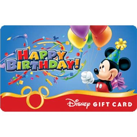 Can You Link Disney Gift Cards To Magic Band - your wdw store disney collectible gift card happy birthday from mickey