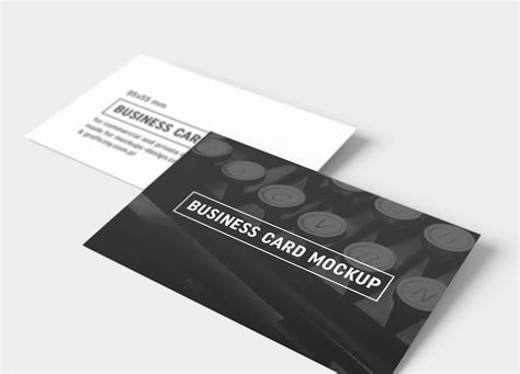black and white business cards templates psd free black white business card mockup psd templates