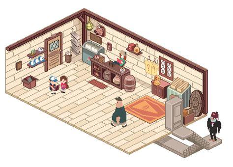 Minecraft Bedroom Wallpaper mystery shack gift shop by markmak on deviantart