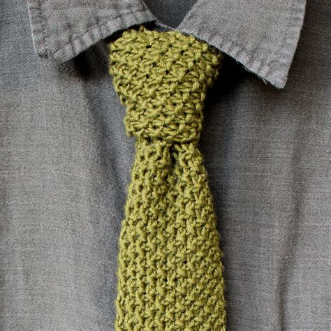 tying knitting how to knit a seed stitch necktie pattern with