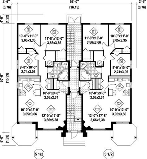 multi family apartment plans first floor plan of multi family plan 52764 multi plex