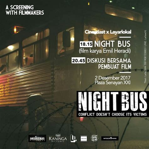 film night bus streaming screening with filmmakers night bus infoscreening