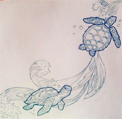sea life tattoo designs sea turtle sketch turtle
