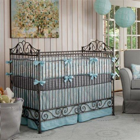 Blue And Gray Crib Bedding Sets Windy Day Crib Bedding Blue White And Gray Crib Bedding Carousel Designs