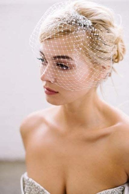American Wedding Hairstyles With Birdcage Veil by 36 Beautiful Hairstyles To Rock With Veils Weddingomania