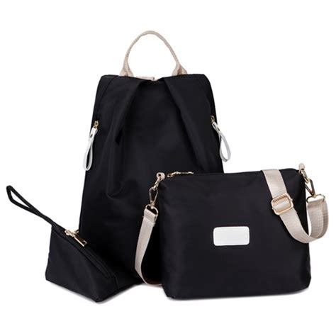 Black Set 3in1 jual b430 black tas ransel impot set 3in1