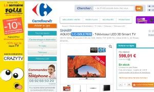Tv Sharp Carrefour 10 sur les tv chez carrefouronline le 7 septembre
