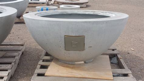 large concrete planter large concrete planter wood burning fire pit accent