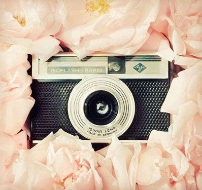 camera, doreesetumblrcom, film, flash, flowers, lens