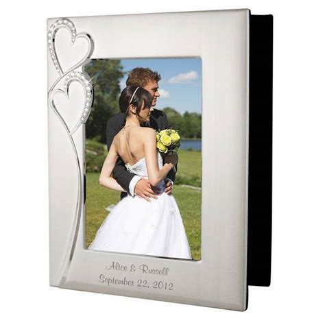 Wedding Gift Idea Personalized Wedding Album by Personalized Wedding Silver Photo Album With Frame