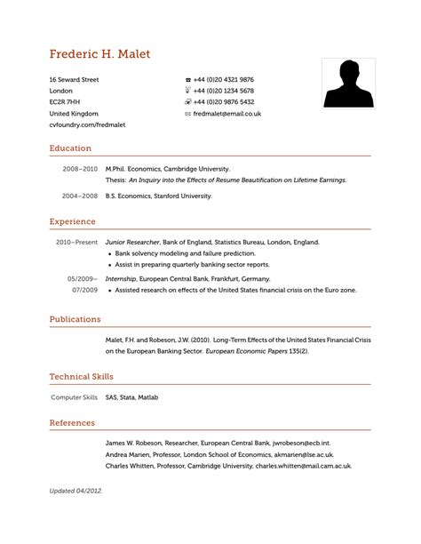 Sle Resume With Header And Footer sle resume with header and footer 28 images business