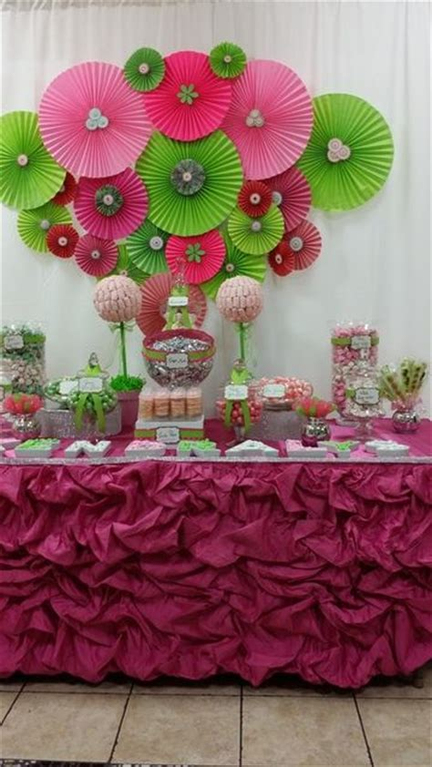 Baby Shower Decorations Pink And Green pink and green baby shower party ideas green baby