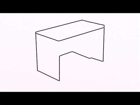 easy to desk 3238 how to draw desk easy drawing for by