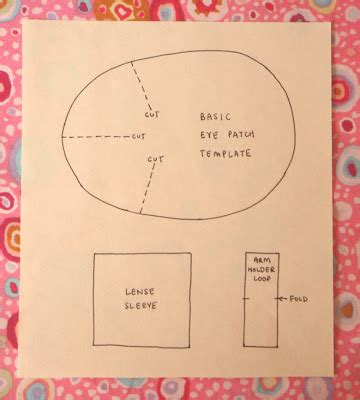 Patch Template by Lucykate Crafts Eye Patch Tutorial For Occlusion
