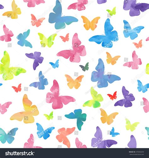 watercolor pattern for illustrator seamless watercolor butterflies pattern vector