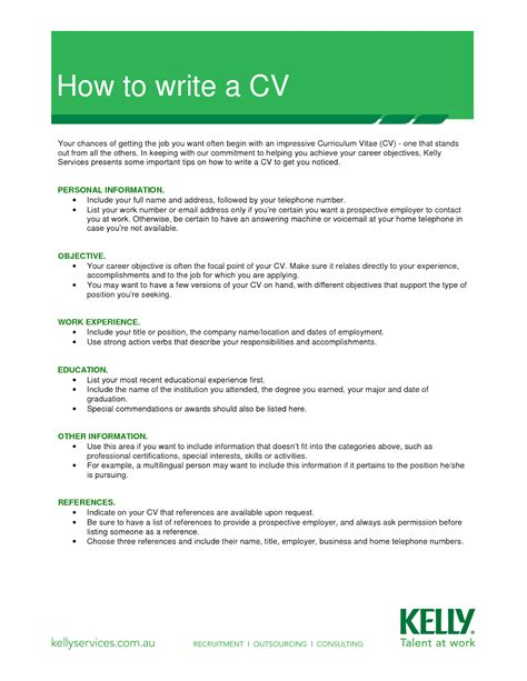 let s how to write a cv curriculum vitae a